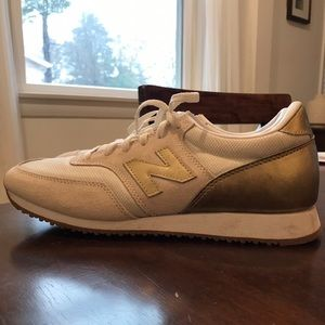 New Balance for J crew gold sneakers